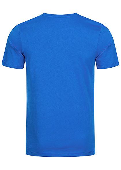 Jack and Jones Herren T-Shirt Front Print victoria navy blau