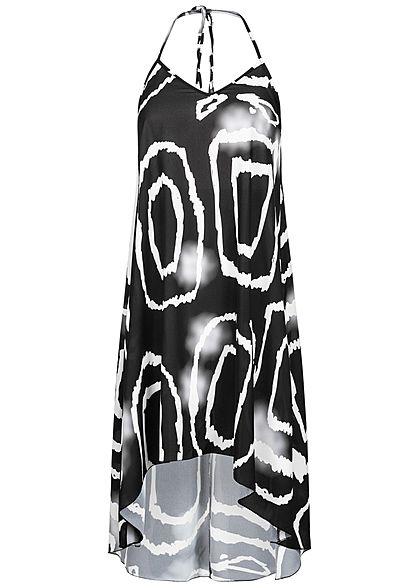 Styleboom Fashion Damen Geometric Beach Dress schwarz weiss