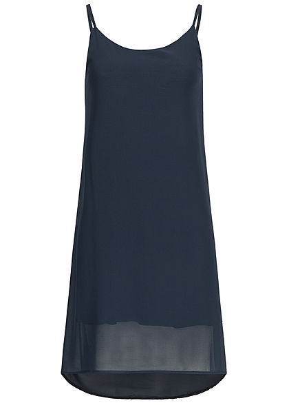 Styleboom Fashion Damen 2-Layer Chiffon Dress navy blau