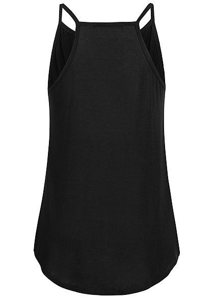 Styleboom Fashion Damen Strap Top schwarz