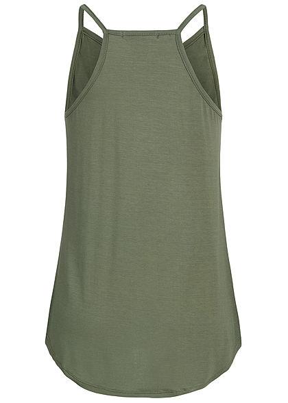Styleboom Fashion Damen Strap Top military grün
