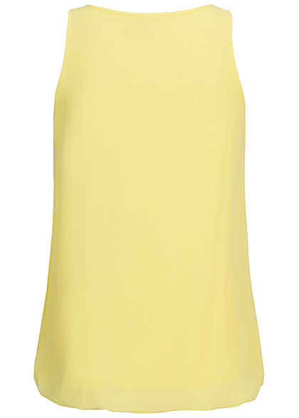 Styleboom Fashion Damen Chiffon Top hell gelb