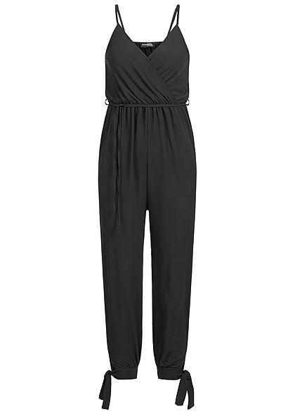 Styleboom Fashion Damen Strap Jumpsuit Belt schwarz