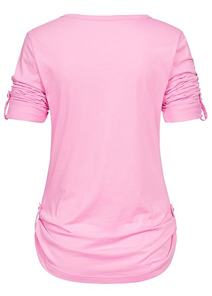 Seventyseven Lifestyle Damen Turn Up Longsleeve rose pink