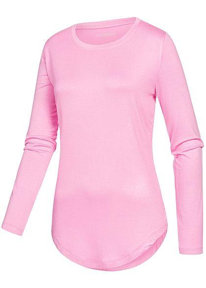 Seventyseven Lifestyle Damen Longsleeve Basic rose pink