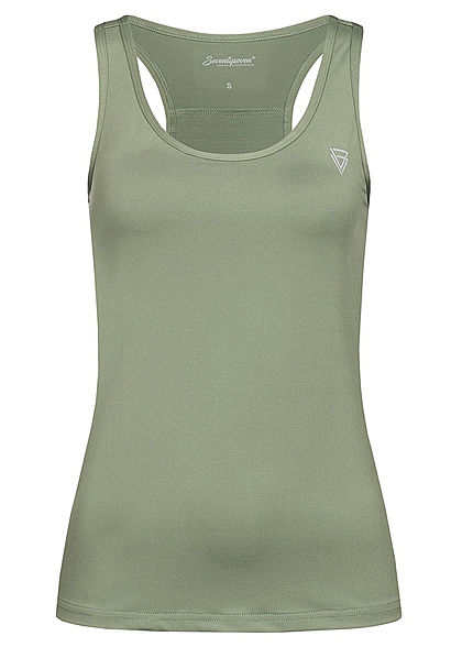 Seventyseven Lifestyle Damen Fitness Tank Top olive grün
