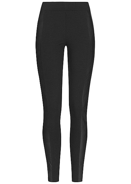 Seventyseven Lifestyle Damen Leggings Fake Leather schwarz