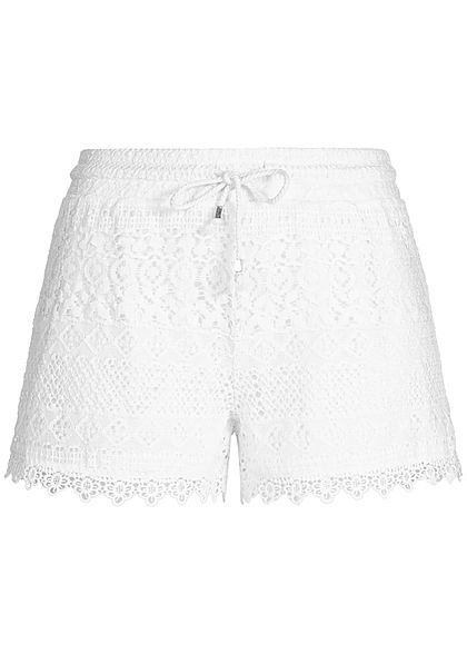 Seventyseven Lifestyle Damen Lace Shorts off weiss