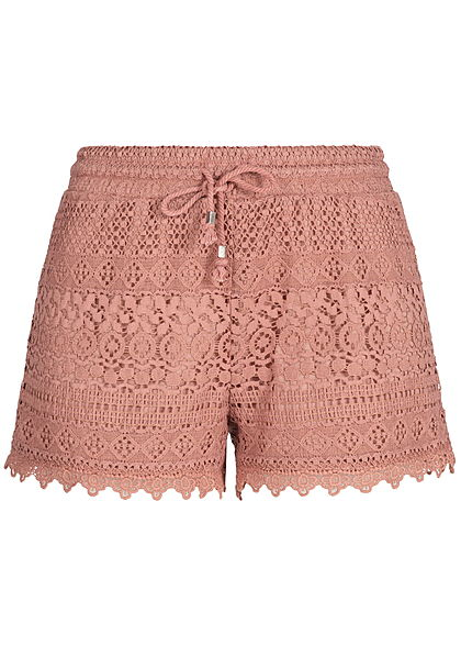 Seventyseven Lifestyle Damen Lace Shorts old rosa