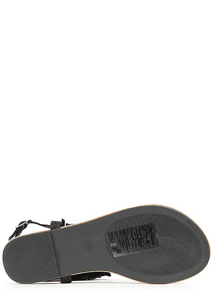 Seventyseven Lifestyle Damen Toe Post Sandals schwarz