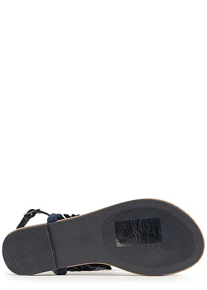Seventyseven Lifestyle Damen Toe Post Sandals navy blau
