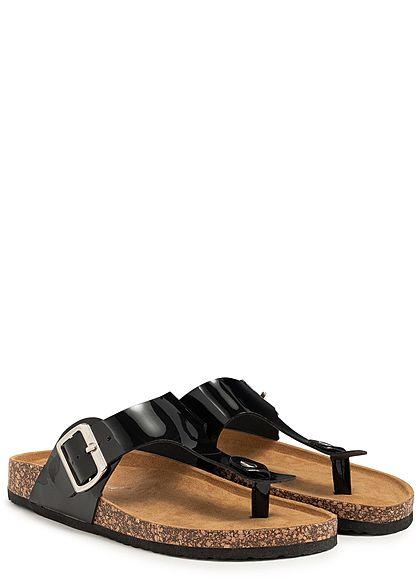 Seventyseven Lifestyle Damen Toe Post Sandals schwarz
