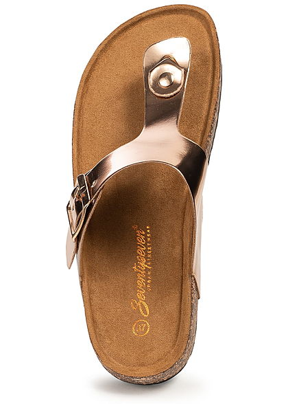Seventyseven Lifestyle Damen Toe Post Sandals rosa gold