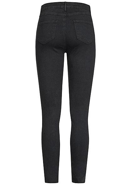 Seventyseven Lifestyle Damen Jeans Destroy Look 4-Pockets schwarz