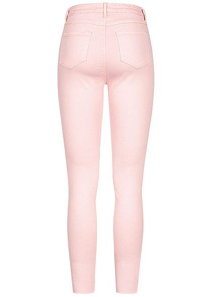 Seventyseven Lifestyle Damen Jeans Destroy Look 4-Pockets rose