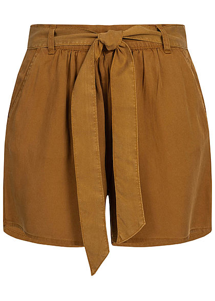 ONLY Damen Belted Shorts 2-Pockets toffee braun