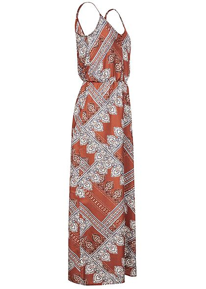 ONLY Damen Maxi Strap Dress Paisley Print Buttons Arabian Spice rot