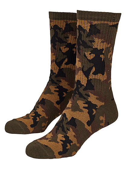 Seventyseven Lifestyle TB 2-Pack Camo Sport Socks wood camouflage