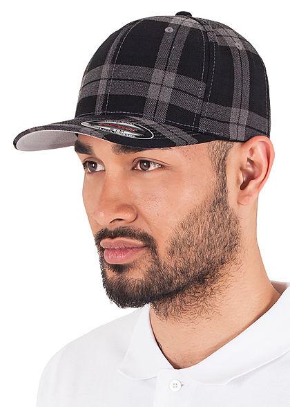Flexfit Plaided Tartan Cap schwarz grau