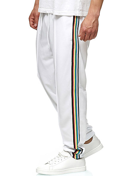 Seventyseven Lifestyle TB Herren Multi Striped Pants 2-Pockets weiss multicolor