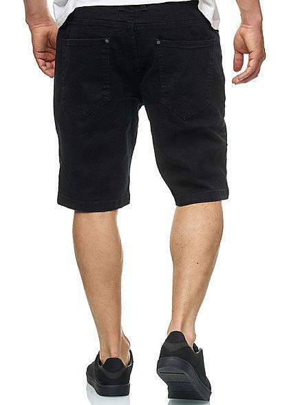 Seventyseven Lifestyle TB Herren Denim Stretch Shorts 5-Pockets schwarz