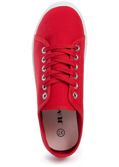 Seventyseven Lifestyle Damen Canvas Flat Sneaker rot