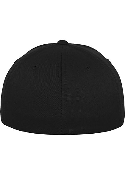 Flexfit Basic Cap schwarz silber