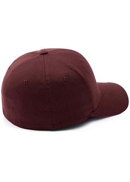 Flexfit Herren Basic Cap maroon bordeaux rot