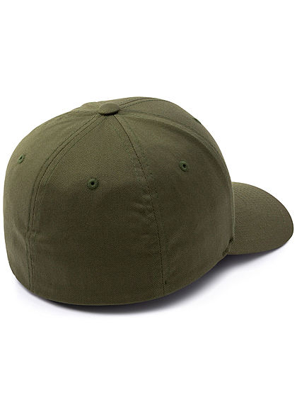 Flexfit Herren Basic Cap oliv grün