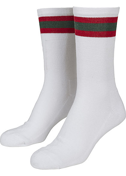 Seventyseven Lifestyle TB 2-Pack Striped Sport Socks weiss rot grün