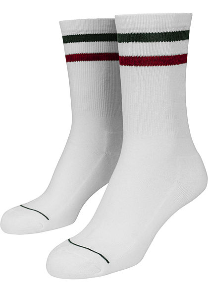 Seventyseven Lifestyle TB 2-Pack Striped Socks weiss grün rot