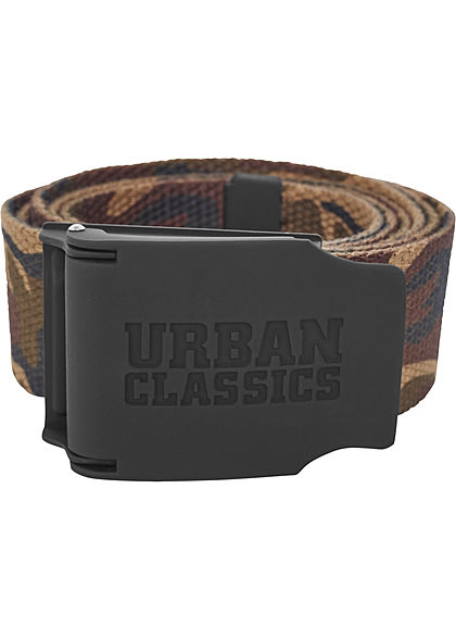 Seventyseven Lifestyle TB Woven Rubbered Touch Belt wood camo braun