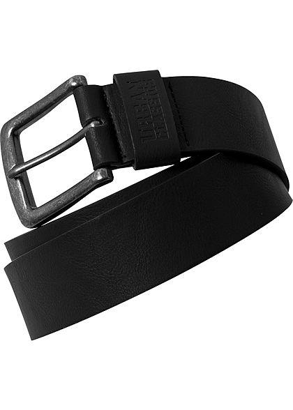 Seventyseven Lifestyle TB Fake Leather Belt schwarz