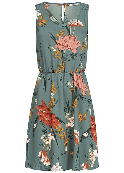 special sales biggest discount how to buy ONLY Damen Mini Dress Flower Print balsam grün