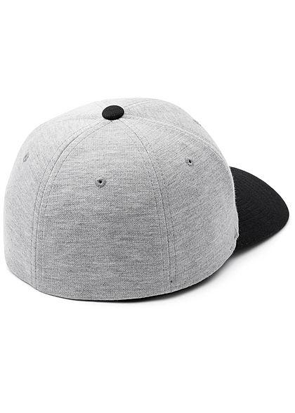 Flexfit 2-Tone Double Jersey Cap grau schwarz