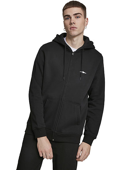 Illmatic Herren Zip Hoodie Small Logo 2-Pockets schwarz