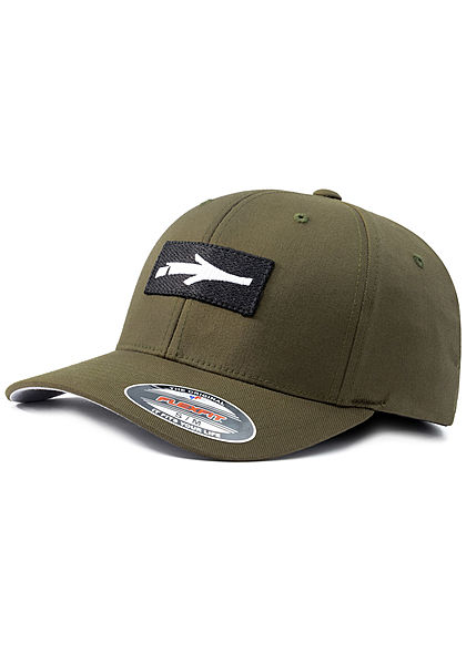 Illmatic Herren Twill Flexfit Inface Cap Logo Patch olive weiss