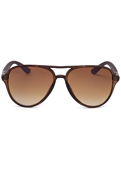 Seventyseven Lifestyle Unisex Retro Pilot Sunglasses Cat. 3 UV-400 Protection braun