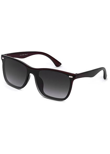 Seventyseven Lifestyle Unisex Retro Vintage Nerd Sunglasses UV-400 Protection grau