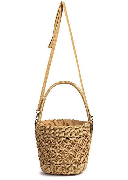Styleboom Fashion Damen Basket Handheld Bag braun