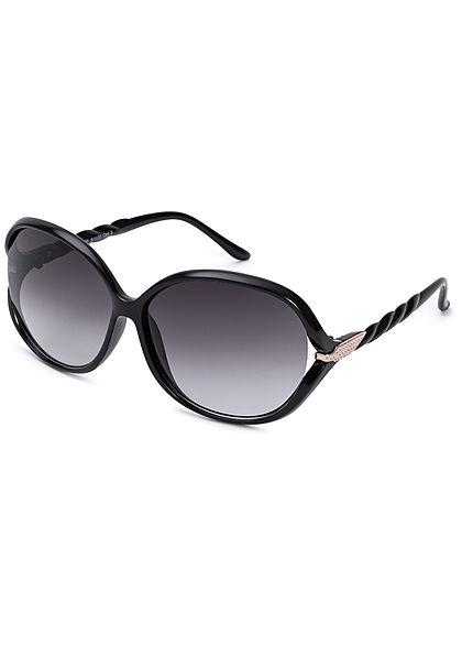 Seventyseven Lifestyle Damen Oval Sunglasses UV400 Protection schwarz