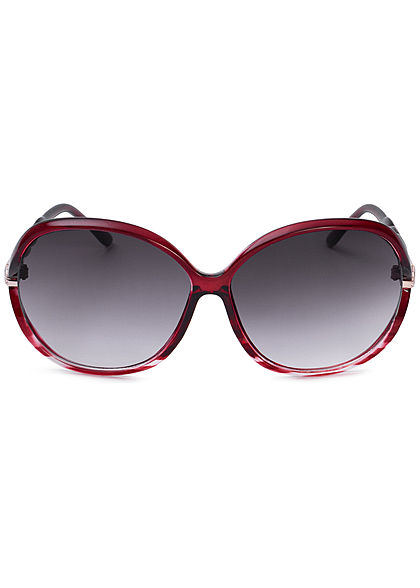 Seventyseven Lifestyle Damen Oval Sunglasses UV400 Protection bordeaux rot