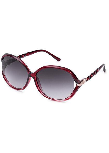 Seventyseven Lifestyle Damen Oval Sunglasses UV400 Protection bordeaux rot