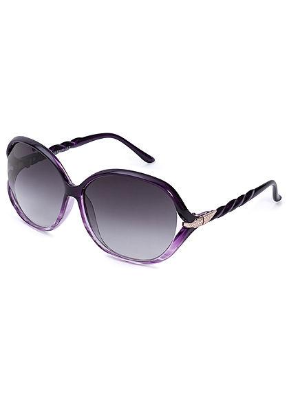 Seventyseven Lifestyle Damen Oval Sunglasses UV400 Protection lila