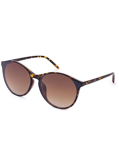 Seventyseven Lifestyle Damen Cat Eye Sunglasses UV-400 Protection braun camouflage
