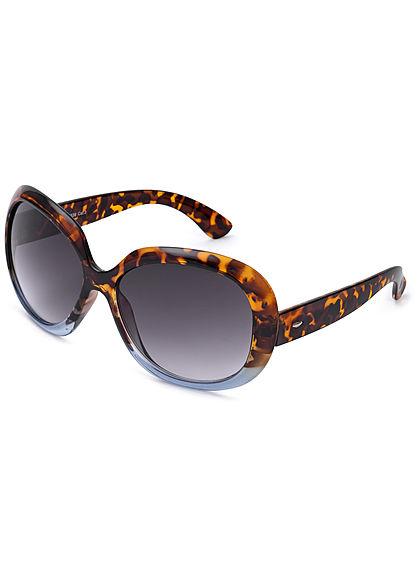 Seventyseven Lifestyle Damen Oval Sunglasses UV-400 Protection braun blau camo