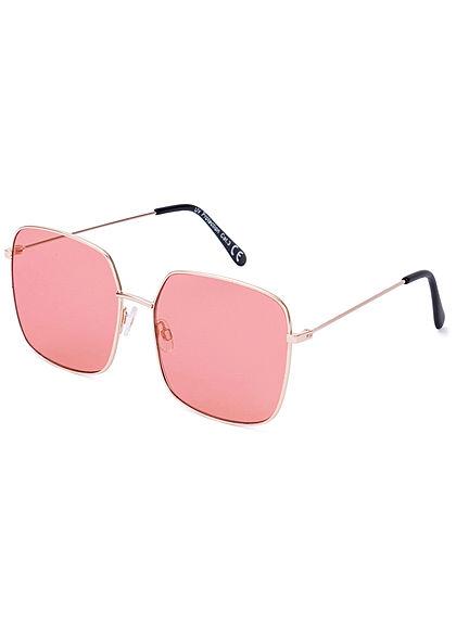 Seventyseven Lifestyle Damen Retro Square Sunglasses UV-400 Protection hell rot