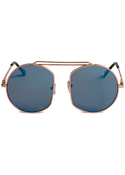 Seventyseven Lifestyle Damen Retro Round Sunglasses UV-400 Protection navy blau