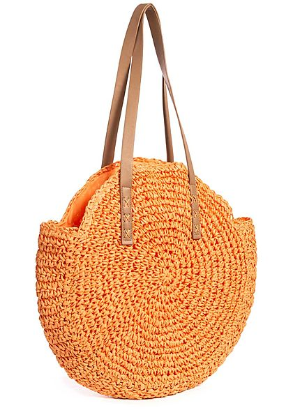 Styleboom Fashion Damen Basket Circle Shopper orange