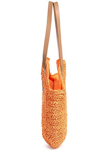 Styleboom Fashion Damen Basket Circle Shopper orange